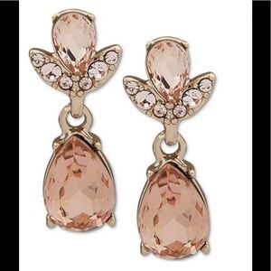 NWT Givenchy Drop Earrings Pavé and Rose crystals